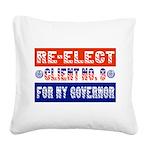 reelectclientno9gov4 Square Canvas Pillow