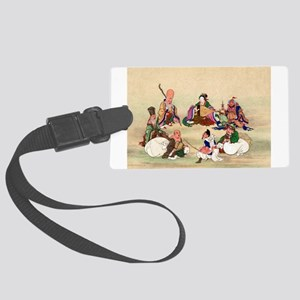 Seven gods of good luck - Anon - 1878 Luggage Tag