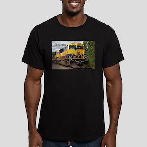 I'm just loco: Alaska Railroad Men's Fitted T-Shir