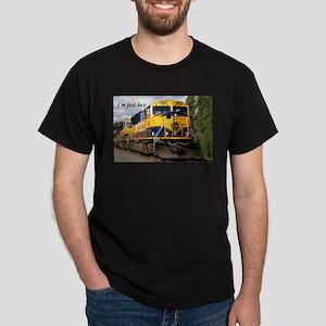 I'm just loco: Alaska Railroad Dark T-Shirt