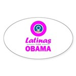 Latinas for Obama Pink Sticker (Oval 10 pk)