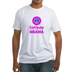 Latinas for Obama Pink Fitted T-Shirt