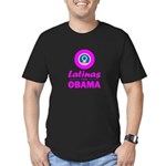 Latinas for Obama Pink Men's Fitted T-Shirt (dark)