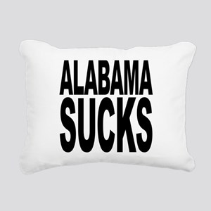 alabamasucksblk Rectangular Canvas Pillow
