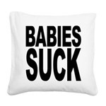 babiessuck.png Square Canvas Pillow