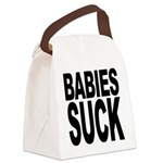 babiessuck.png Canvas Lunch Bag