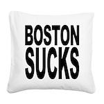 bostonsucksblk.png Square Canvas Pillow