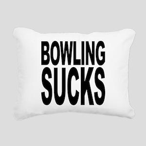 bowlingsucksblk Rectangular Canvas Pillow