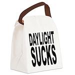 daylightsucks.png Canvas Lunch Bag