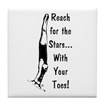 Gymnastics Tile Coaster - Stars