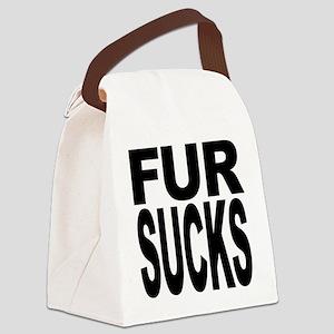 fursucksblk Canvas Lunch Bag