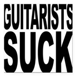guitaristssuck.png Square Car Magnet 3