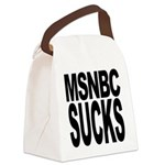 msnbcsucksblk.png Canvas Lunch Bag