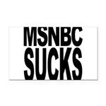 msnbcsucksblk.png Rectangle Car Magnet