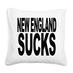 newenglandsucksblk Square Canvas Pillow