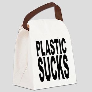 plasticsucksblk Canvas Lunch Bag