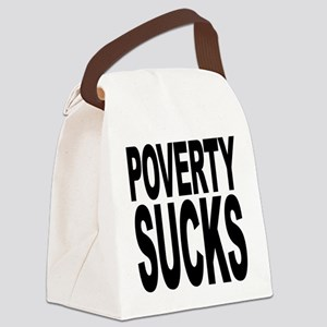 povertysucks Canvas Lunch Bag