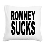 romneysucksblk Square Canvas Pillow