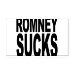 romneysucksblk Rectangle Car Magnet