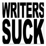 writerssuckblk.png Square Car Magnet 3