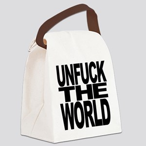 Unfuck The World Canvas Lunch Bag