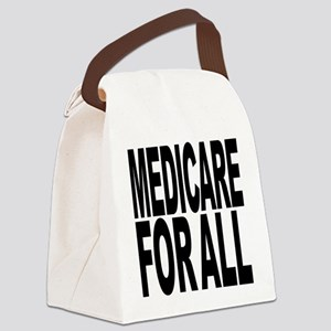 medicareforallblk Canvas Lunch Bag