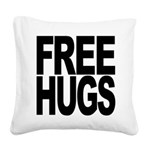 freehugs-blk Square Canvas Pillow