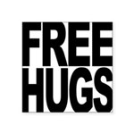 freehugs-blk Square Sticker 3
