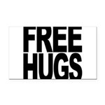 freehugs-blk Rectangle Car Magnet