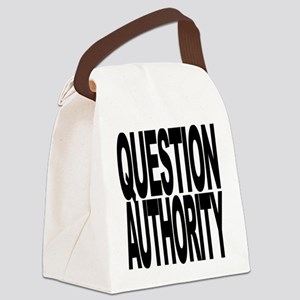 questionauthorityblockblk Canvas Lunch Bag