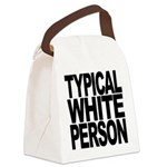 typicalwhitepersonblk Canvas Lunch Bag