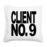 clientno9mssblk Square Canvas Pillow