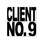 clientno9mssblk Square Sticker 3