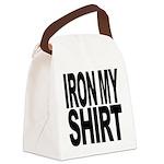 ironmyshirtblockblk Canvas Lunch Bag