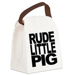 rudelittlepigblk Canvas Lunch Bag
