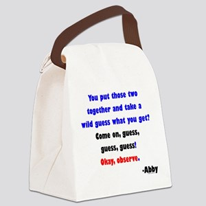 Come On, guess! - Abby Canvas Lunch Bag