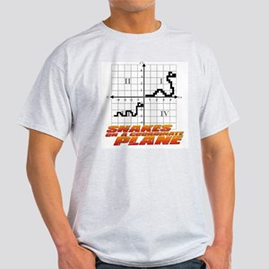 Snakes on a Coordinate Plane Ash Grey T-Shirt