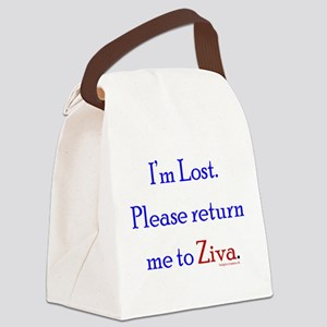 Return Me to Ziva Canvas Lunch Bag