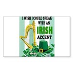 IRISH ACCENT Sticker (Rectangle 10 pk)