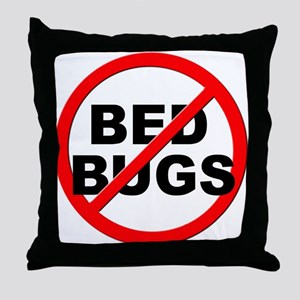 Anti / No Bed Bugs Throw Pillow
