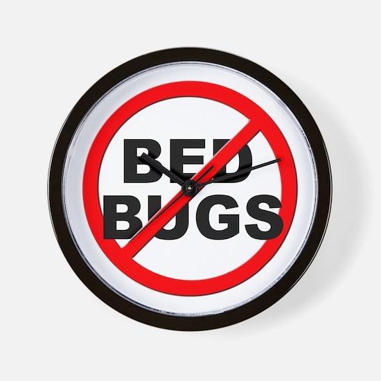 Anti / No Bed Bugs Wall Clock