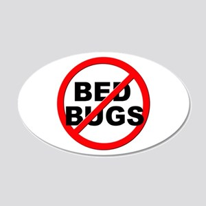 Anti / No Bed Bugs 20x12 Oval Wall Decal