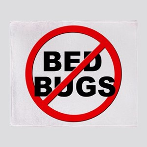Anti / No Bed Bugs Throw Blanket