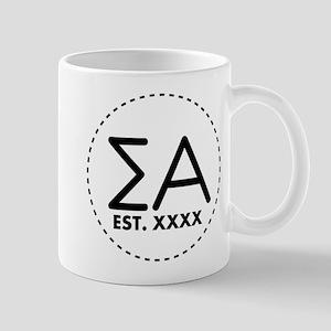 Sigma Alpha Circle Personalized 11 oz Ceramic Mug