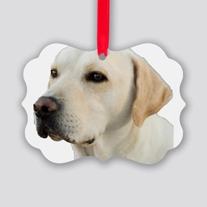 Yellow Lab Head Picture Ornament