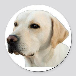 Yellow Lab Head Round Car Magnet