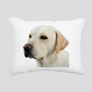 Yellow Lab Head Rectangular Canvas Pillow