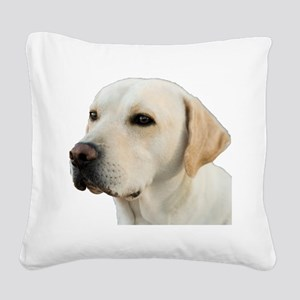 Yellow Lab Head Square Canvas Pillow