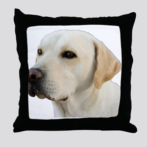 Yellow Lab Head Throw Pillow