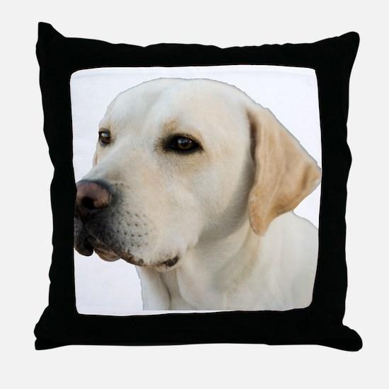 Yellow Lab Head Throw Pillow